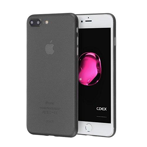 doupi UltraSlim Funda para iPhone 8 Plus / 7 Plus (5,5 Pulgadas), Finamente Estera Ligero Estuche Protección, Negro
