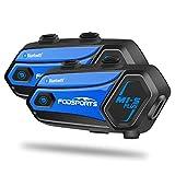 FODSPORTS M1-S PLUS Auriculares Intercomunicador Moto con CVC Reducción De Ruido,Compartir Música,Manos Libres Moto Intercomunicador 8 Jinetes 1000M Sistemas de Comunicación para Casco