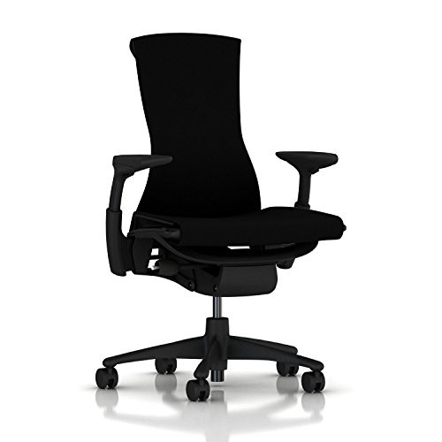 Herman Miller Embody Chair: Fully Adj Arms - Graphite Frame/Base - Standard...