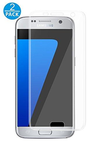 VAPIAO 2er Pack [2 Stück] Panzerglasfolie Panzerglas kompatibel mit Samsung Galaxy S7 9H 2.5D Glasprotektor Clear Glas 9H Schutzfolie Echtglas