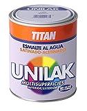 Titan M295329 - Esmalte al agua unilak satinado rojo ingles 750 ml