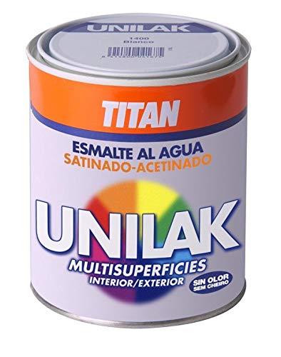Titan M3541 - Esmalte al agua unilak satinado gris perla 750 ml