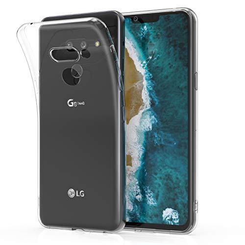 kwmobile Funda Compatible con LG G8 ThinQ - Carcasa de TPU para móvil - Cover Trasero en Transparente