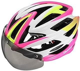Newly Bicycle Magnetic Helmets Goggles Bike Helmet Night Light-Pink