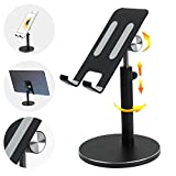 Co-Goldguard Phone Stand Cell Phone Desk Holder Aluminum Desktop Stand Solid Anti-Slip Portable Universal Holders Adjustable Compatible with iPad iPhone All Mobile Smart Phone Tablet [Upgraded] Black