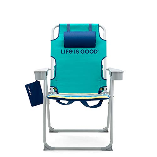 Life is Good Backpack Lawn Chair, Tall, Rocket Green