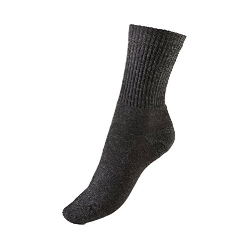 Compressana GoWell Med Thermo - extra-warme Socken mit Merino-Wolle - perfekt bei kälte-empfindlichen Füßen - Größe III - Farbe anthrazit - 1 Paar