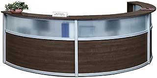 Compass Laminate and Glass Triple Reception Desk 142