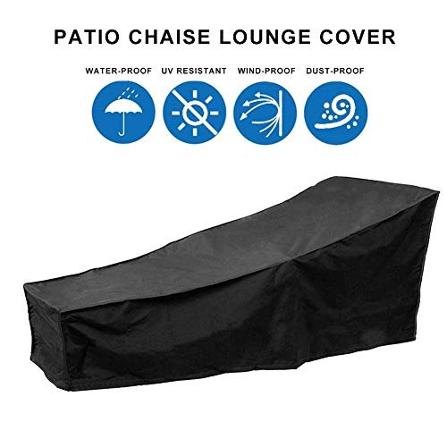 Imperméable Patio Lounge Chair Cover Outdoor Chaise Lounge Cover Recliner Protective Cover for Outdoor Courtyard Garden Patio