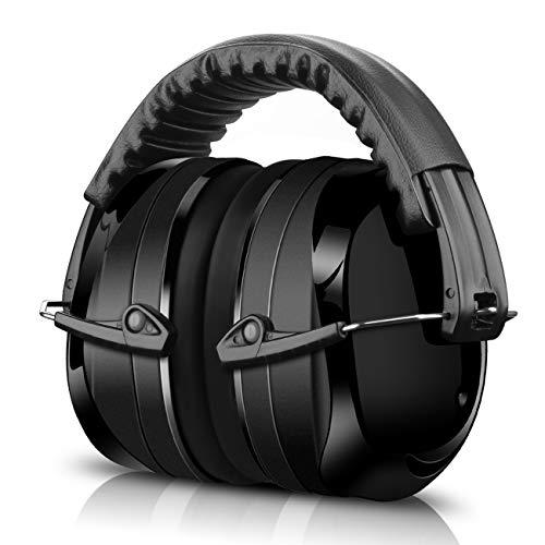 ECHTPower Kapselgehörschutz, Gehörschutz für Kinder und Erwachsene, 34dB Höchste NRR Kopfbügel Sicherheit Ohrenschutz Hörschutz Safety Ear Muffs mit Weichschaum, Geeignet für Schiessen, SNR 35dB
