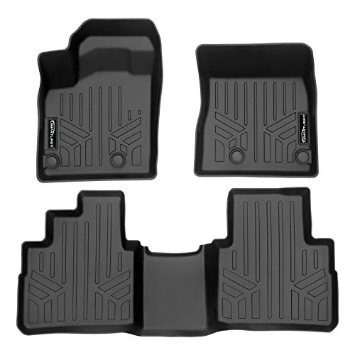 SMARTLINER SA0540/B0540 Custom Fit All Weather Black 2 Row Floor Mat Liner Set for 2021 Nissan Rogue (No Sport Models)