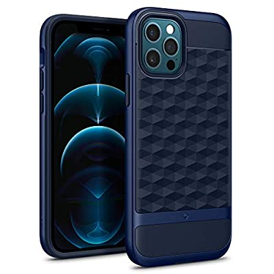 Caseology Parallax Compatible with iPhone 12 Pro Case Compatible with iPhone 12 Case (2020) - Midnight Blue