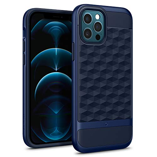 Caseology Parallax for iPhone 12 Pro Case for iPhone 12 Case (2020) - Midnight Blue