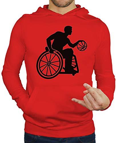 tostadora - Hoodie Rollstuhl-Basketball - Manner Rot M