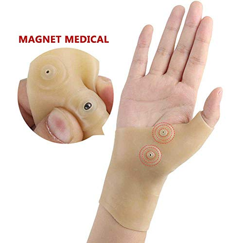 Pawaca - Guantes de muñeca para Terapia magnética y Pulgar,...