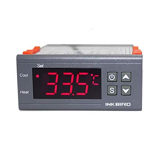 Inkbird ITC-1000 デジタル 温度コントローラ サーモスタット °Cと°Fの切り替え 2リレー センサー付き -50℃~99℃ (110V)