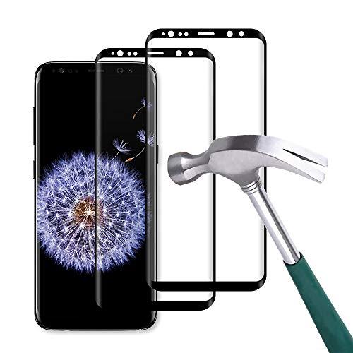 Carantee Panzerglas Schutzfolie für Samsung Galaxy S9, 9H Härte 3D Volle Abdeckung, Ultra dünn HD Displayschutzfolie, Anti-Kratzen Anti-Fingerabdruck Panzerglasfolie für Samsung S9 [2 Stück]