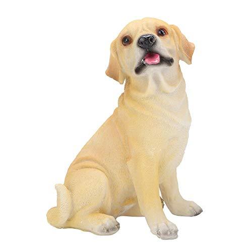 Haofy Decoración del Perro de la simulación del Perro del Ornamento, Estatua del Perrito de la Resina del jardín
