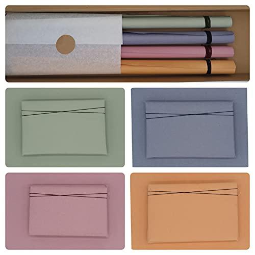 Geschenkpapier box - 4 rolle Exklusives/luxus Paperoni Flavours mit passendem Band