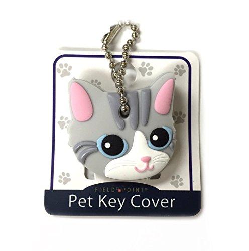 Key Cover/Key Caps/Key Holder/Keycaps - Cute Animal Pet Faces (Gray Cat)