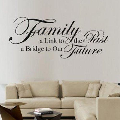 Family A Link To The Past Citer Vinyle Mur Autocollant Art Lettres Decalque Peinture Murale Maison Decor