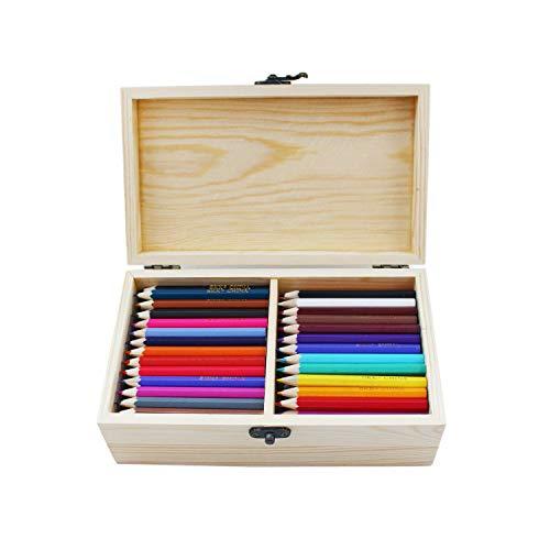 S & E TEACHER'S EDITION 200 Pcs Mini Colored Pencils, 3.5' Colored Pencils, 50 Vibrant Colors, Come with the wooden box worth $6.99, 200/Box.