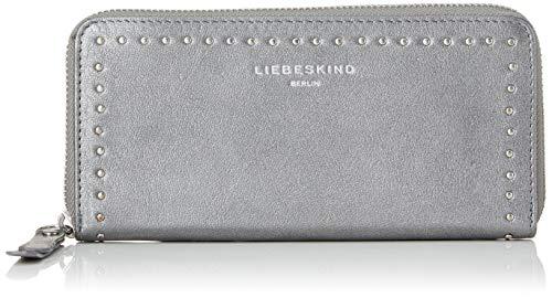 Liebeskind Berlin Damen Slsallyw8 Slov2m Geldbörse, Silber (Silber (Iron Silver), 2.0x10.0x19.0 cm