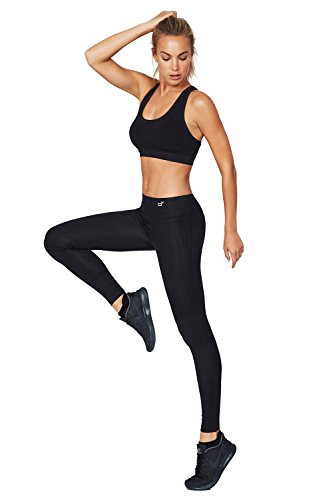 Boody Body EcoWear Active Women's Full Leggings Made from Natural Organic Bamboo Viscose – Soft Breathable Eco Fashion for Sensitive Skin - Black, X-Small