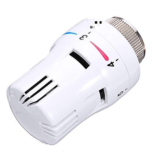 JGFJ Fontanería termostática válvula de radiador válvulas de control de temperatura neumáticas controlador remoto cabeza de radiador para sistema de calefacción hogar