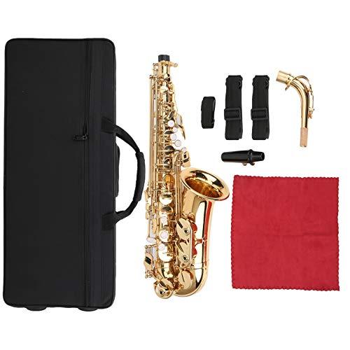 Vbest life Sassofono Contralto Professionale in Ottone MIB Sassofono Contralto in Mi bemolle con Accessori per bocchino Attrezzatura per Strumenti Musicali(Oro)