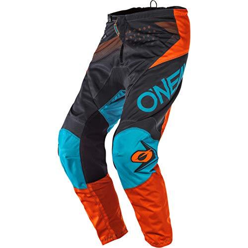 O'Neal Element Factor Kinder Moto Cross Hose MX Mountain Bike Enduro Jugend Offroad Trail MTB FR, E010, Farbe Grau Orange, Größe 22