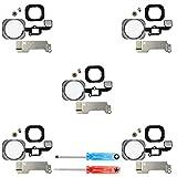 MMOBIEL Paquete de 5 Repuesto Botón de Inicio Home Compatible con iPhone 6S / 6S Plus (Blanco/Plata) Inc Destornillador