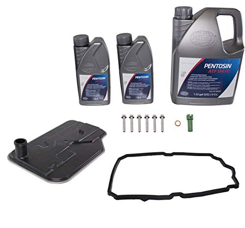 """Pentosin 1089216-KIT-1 Automatic Transmission Service Kit with 7L of ATF 134 FE """"Blue"""" Fluid and a Rein Filter, Gasket, Bolts, and More for June 2010 and Newer Mercedes 7-Speed Automatics"""