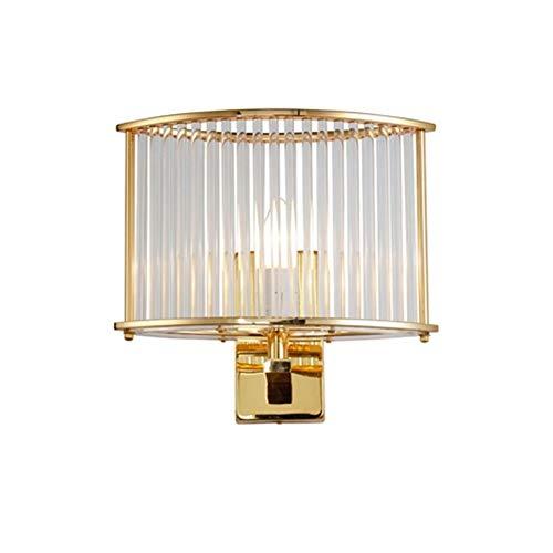 Applique Indoor Lampada da parete chiara della parete del LED di lusso E14 'oro di disegno di vetro trasparente Rod riparo della parete di decorazione domestica moderna