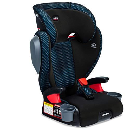 Britax Highpoint 2-Stage Belt-Positioning Booster Car Seat, Teal - Highback and Backless Seat