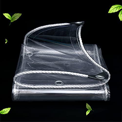 Lona Transparente, Lona Alquitranada Impermeable De Alta Resistencia con Ojales, para Pesca/Camping/Jardín, Lona De Protección Resistente Al Polvo/a La Intemperie,Transparent-1.4×3m/55.1×118.1in