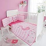 Quest-Mart Kinderbettwäsche-Set für Kinderbett, 3-teilig Fiona Flamingo