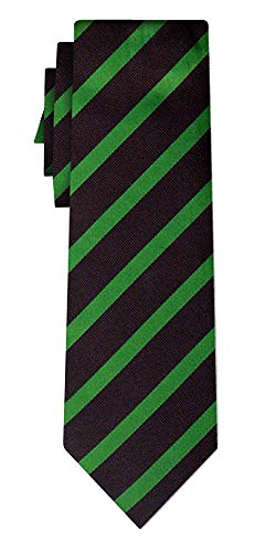 Cravate soie rayée stripe 1cm green black