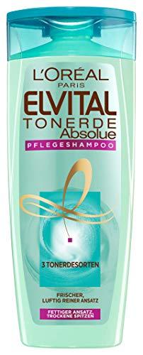 L'Oréal Paris Elvital Tonerde Absolue Pflegeshampoo, bei fettendem Ansatz und trockenen Spitzen, silikonfrei, 300 ml