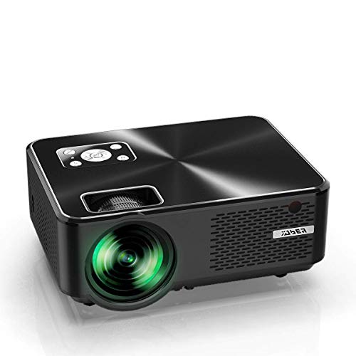 YABER Projector Small 6,000 lm, 1,080P Full HD Compatible, High Resolution, 1,920 x 1,080 Maximum Resolution, Home Theater Real 720P