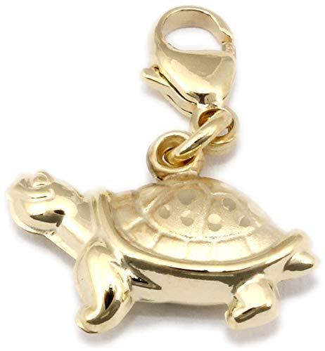 Anhänger Charm Schildkröte Gold 333 Einhänger Gelbgold Unisex