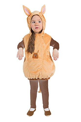 narrenkiste Oh2007-104-110 Kinder Känguru Weste Kostüm Gr.104-110