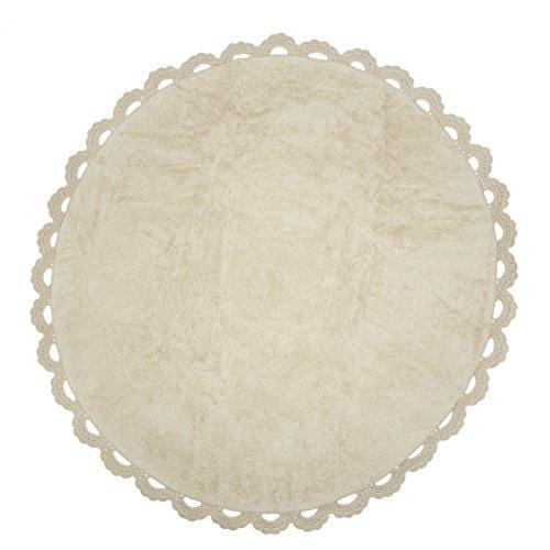 Ideenreich Chanel Teppich rund waschbar 140cm, Baumwolle, beige, 140 cm Dia