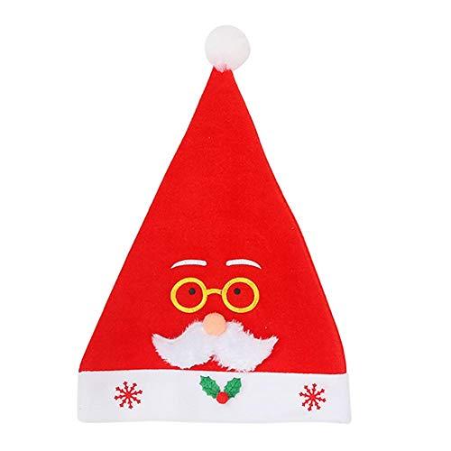 Ahomi schattige Santa Claus hoed winter warm volwassenen kerstmuts Xmas New Year Decor