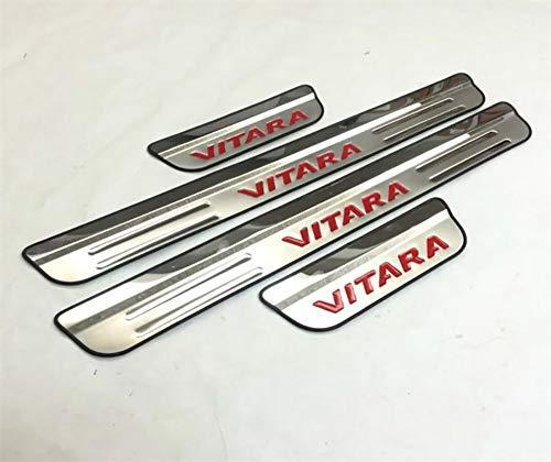 LSYBB 4 Teile/Satz Edelstahl Verschleißplatte/Einstiegsleisten Für Suzuki Vitara 2015-2018 Auto Styling Zubehör,A
