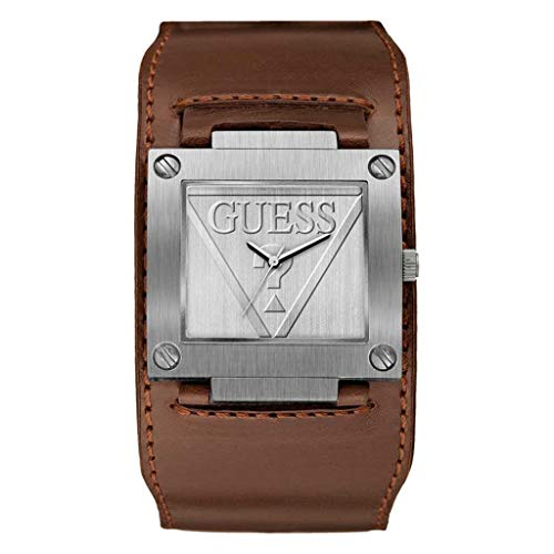 Guess Herren Analog Quarz Uhr mit Leder Armband 8431242949697