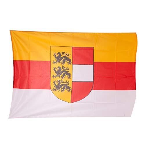 Fahnen Kössinger, Hissflagge im Querformat, Fahne Bundesland Kärnten, Hissfahne mit Wappen, hochwertiger Siebdruck, Brillante Farben, Gold-rot-weiß, reißfest, 200 x 120cm, 2,4 m² Fläche