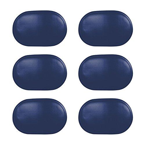 Saleen Tischset, Kunststoff, oval, 45x30cm, Stück:6 Stück, Farbe:Kobaltblau
