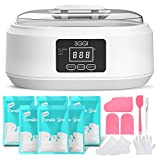 SGGI Paraffin Wax Machine Touchscreen 3000ML,6 Packs of Wax 2.6lb for Hand and Feet, Moisturizing Paraffin Spa Wax Bath Kit at Home for Smooth and Soft Skin,Gift for women (White-Scent Free)
