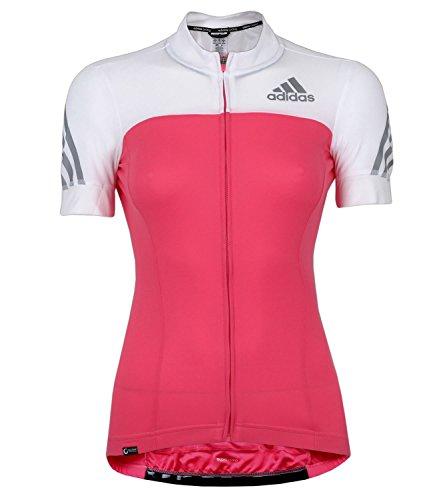 adidas Damen Supernova Radshirt Cycling Jersey Women (pink-weiß, XS)